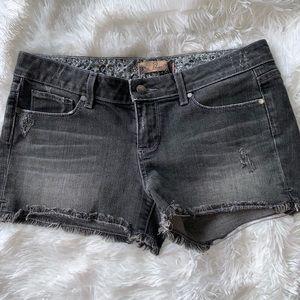 Paige gray denim shorts size 29